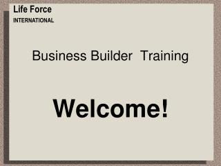 Business Builder  Training