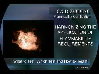 C&D ZODIAC Flammability Certification