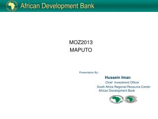 Presentation By : 	         Hussein Iman Chief  Investment Officer