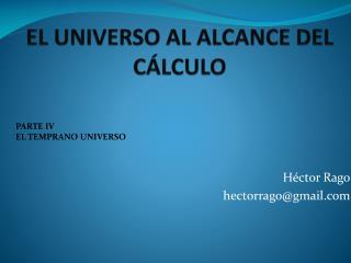 EL UNIVERSO AL ALCANCE DEL CÁLCULO