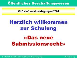 K�B  - Informationstagungen 2004