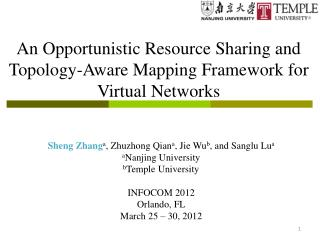 An Opportunistic Resource Sharing and Topology-Aware Mapping Framework for Virtual Networks