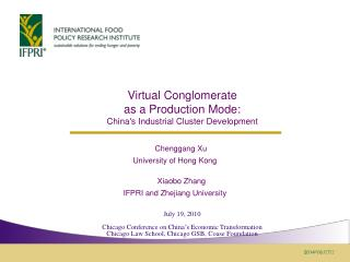Virtual Conglomerate  as a  Production Mode:  China's Industrial Cluster Development