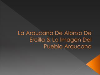La Araucana De Alonso De Ercilla & La Imagen Del Pueblo Araucano