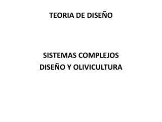 TEORIA DE DISEÑO
