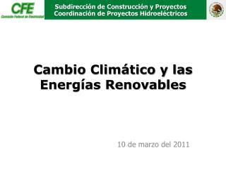 Subdirección de Construcción y Proyectos Coordinación de Proyectos Hidroeléctricos