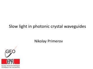 Slow light in photonic crystal waveguides