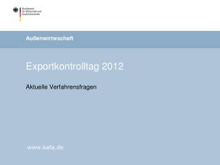 Exportkontrolltag 2012