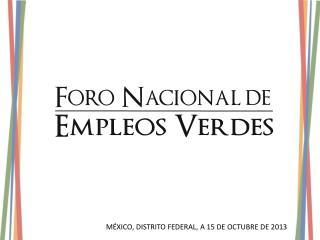 MÉXICO, DISTRITO FEDERAL, A 15 DE OCTUBRE DE 2013