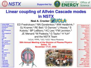 Linear coupling of Alfv �n Cascade modes  in NSTX