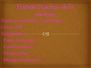 Trabajo Práctico  de la  energía
