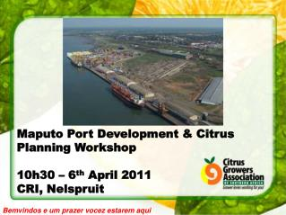 Maputo Port Development & Citrus Planning Workshop 10h30 – 6 th  April 2011 CRI, Nelspruit