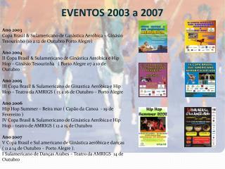 EVENTOS 2003 a 2007