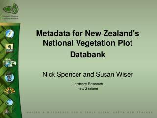 Metadata for New Zealand's National Vegetation Plot Databank