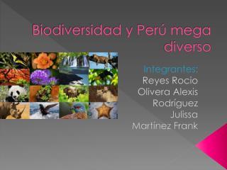 Biodiversidad y Perú mega diverso