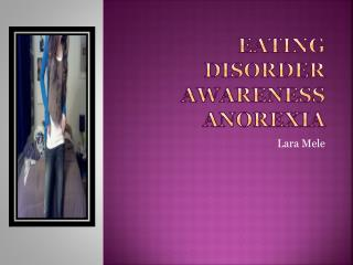 Eating Disorder Awareness Anorexia