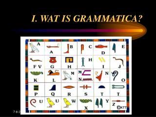 I. WAT IS GRAMMATICA?
