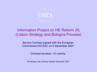 Information Project on HE Reform (II) (Lisbon Strategy and Bologna Process)