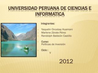 Universidad Peruana de Ciencias e Informatica