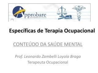 Específicas deTerapia Ocupacional