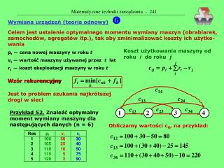 Matematyczne techniki zarządzania  -  241