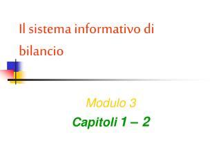 Il sistema informativo di bilancio