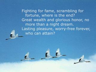 Fighting for fame, scrambling for fortune, where is the end?