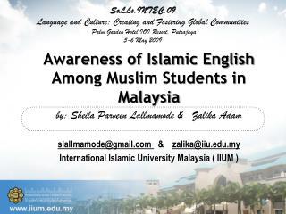 Awareness of Islamic English Among Muslim Students in Malaysia