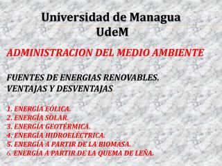 Universidad de Managua  UdeM