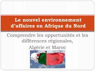 Le  nouvel environnement d'affaires en Afrique du  Nord