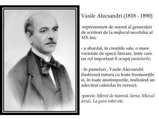 Vasile Alecsandri  (1818 - 1890)