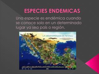 ESPECIES ENDEMICAS