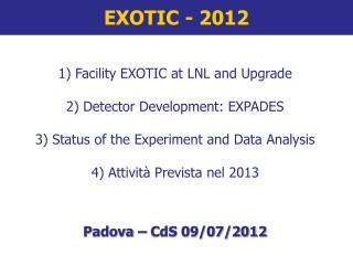 EXOTIC - 2012