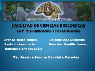 FACULTAD DE CIENCIAS  BIOLOGICAS