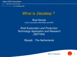 What is Geodesy