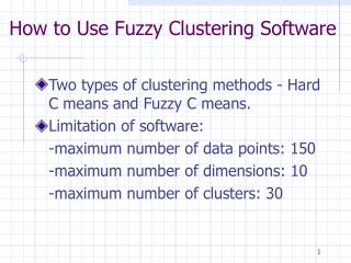 How to Use Fuzzy Clustering Software