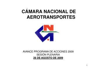 CÁMARA NACIONAL DE        AEROTRANSPORTES