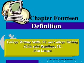 Chapter Fourteen Definition