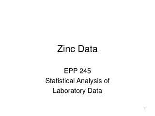 Zinc Data
