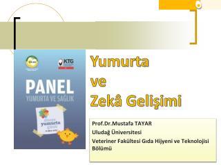 Prof.Dr .Mustafa TAYAR Uludağ Üniversitesi  Veteriner Fakültesi Gıda Hijyeni ve Teknolojisi Bölümü