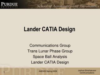 Lander  CATIA Design