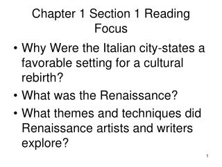 Chapter 1 Section 1 Reading Focus