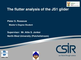 The flutter analysis of the JS1 glider