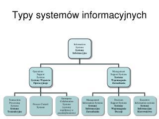 Typy systemów informacyjnych
