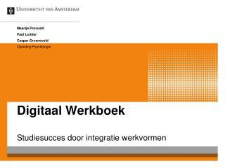 Digitaal Werkboek