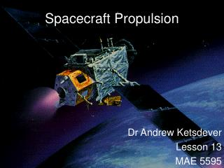 Spacecraft Propulsion