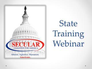 State Training Webinar
