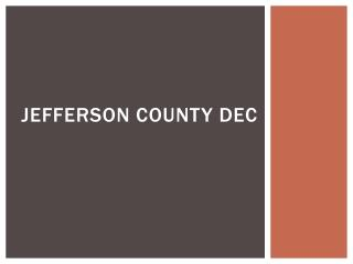 Jefferson County DEC