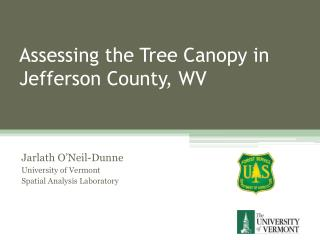 Assessing the Tree Canopy in Jefferson County, WV
