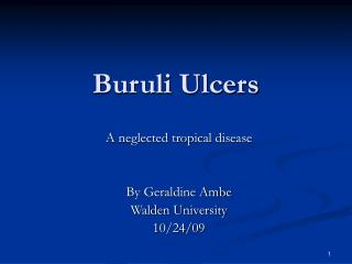 Buruli Ulcers